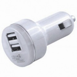 USB adapter 12/24V 2,1+1A